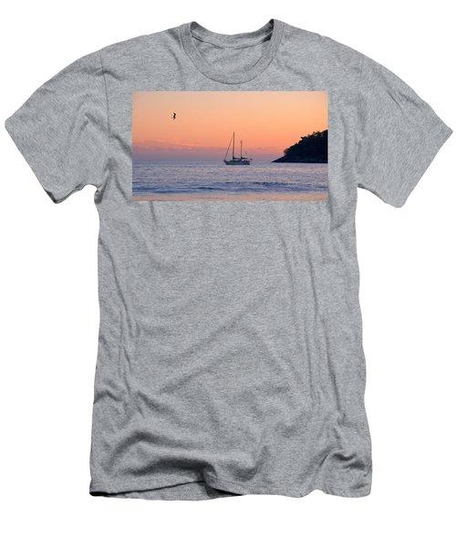 Safe Harbor Men's T-Shirt (Slim Fit) by Jim Walls PhotoArtist
