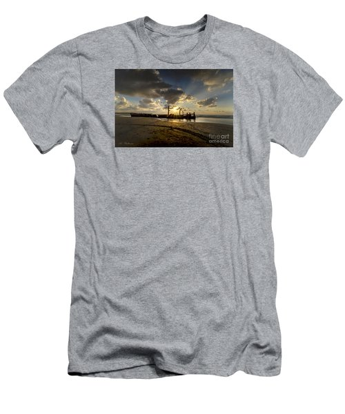 Men's T-Shirt (Slim Fit) featuring the photograph Safe Shore 04 by Arik Baltinester