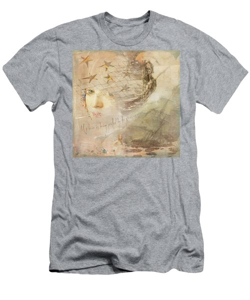 Men's T-Shirt (Athletic Fit) featuring the digital art Sail Away by Sue Collura