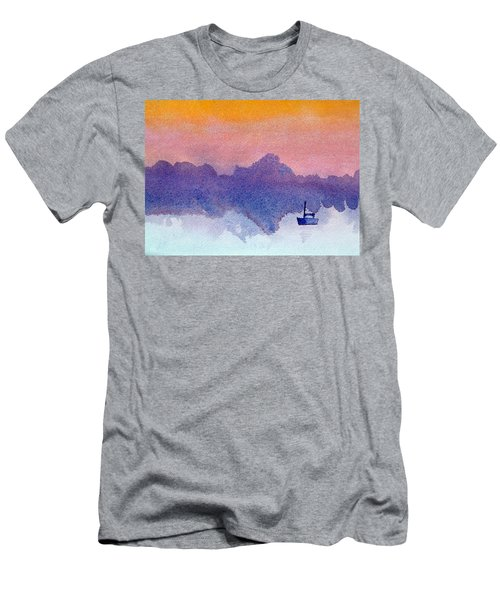 Sailboat At Dawn Men's T-Shirt (Athletic Fit)