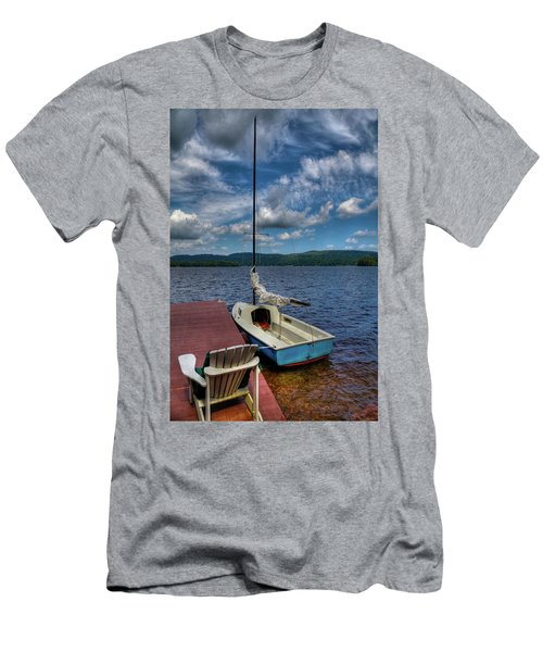 Sailboat On First Lake Men's T-Shirt (Athletic Fit)
