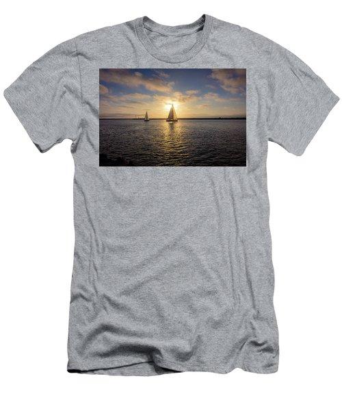 Sailboats At Sunset Men's T-Shirt (Athletic Fit)