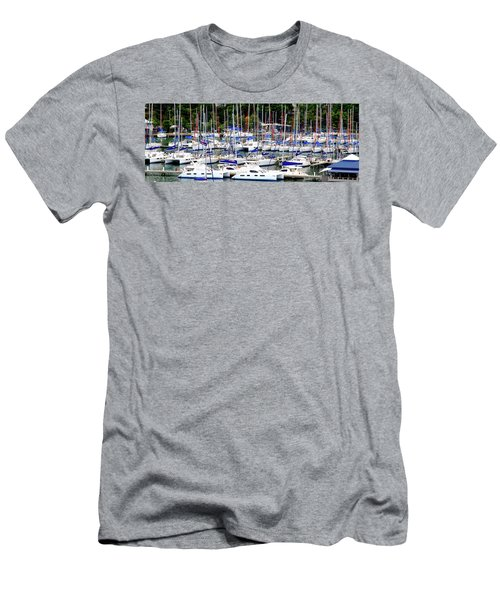 Sailboats Men's T-Shirt (Athletic Fit)