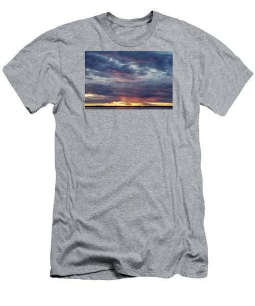 Sailboats On The Bay Men's T-Shirt (Slim Fit) by Elvira Butler