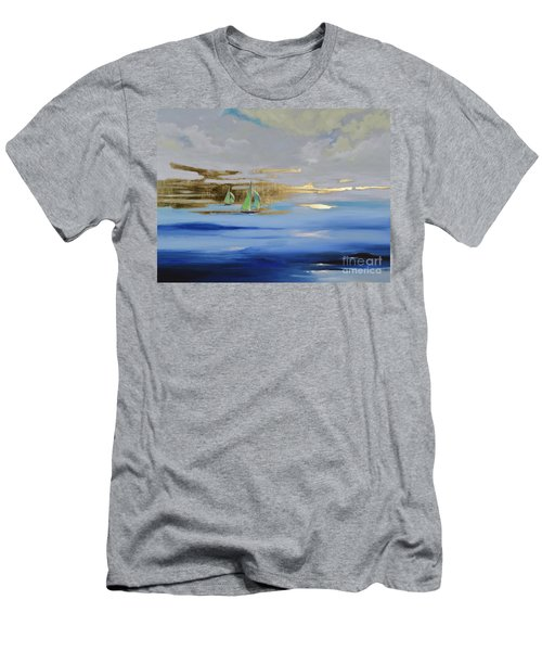 Men's T-Shirt (Athletic Fit) featuring the painting Sailing Away by Mary Scott