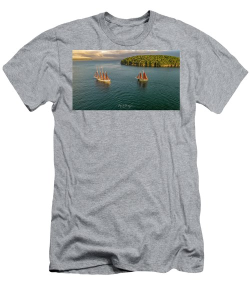 Sailing Frenchman Bay Men's T-Shirt (Athletic Fit)