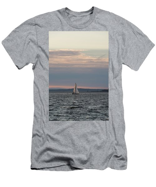 Sailing In The Puget Sound Men's T-Shirt (Athletic Fit)