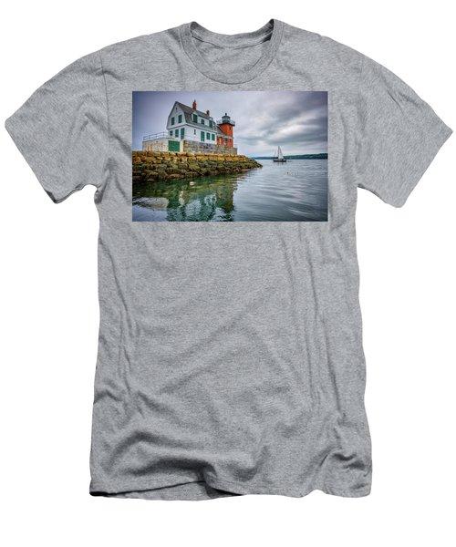 Sailing Past The Breakwater Men's T-Shirt (Athletic Fit)