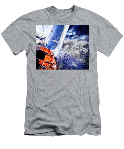 Men's T-Shirt (Athletic Fit) featuring the painting Sailing Souls by Hanne Lore Koehler