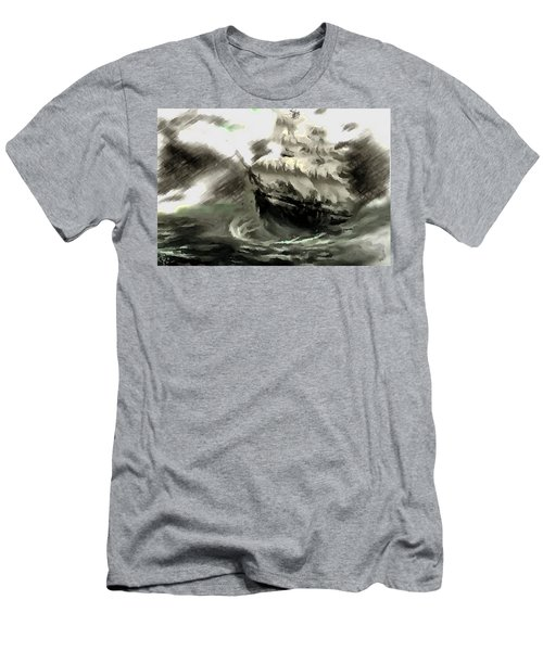 Sailing The Stormy Seas Men's T-Shirt (Athletic Fit)