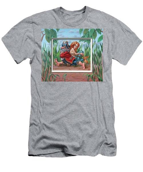 Sailor And Mermaid Men's T-Shirt (Athletic Fit)
