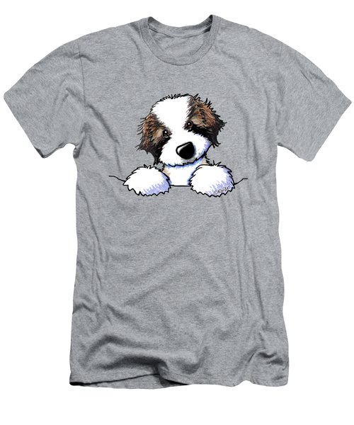 Saint Bernard Puppy Men's T-Shirt (Athletic Fit)