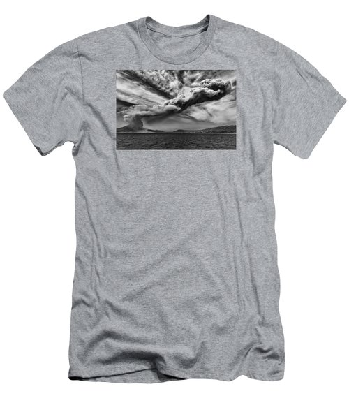 Sakurajima Volcano Men's T-Shirt (Slim Fit) by Hayato Matsumoto