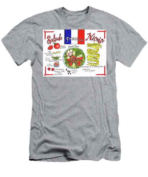 Men's T-Shirt (Athletic Fit) featuring the painting Salade Nicoise by Diane Fujimoto