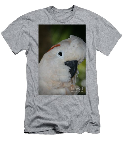 Salmon Crested Cockatoo Men's T-Shirt (Slim Fit) by Sharon Mau