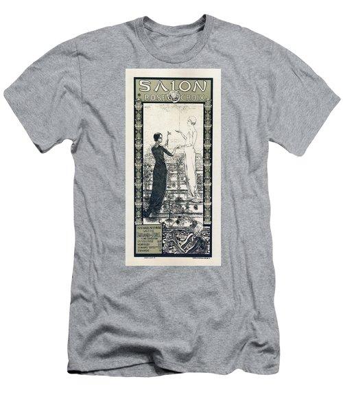 Salon De La Rose Croix - Vintage French Exposition Poster By Carlos Schwabe Men's T-Shirt (Athletic Fit)