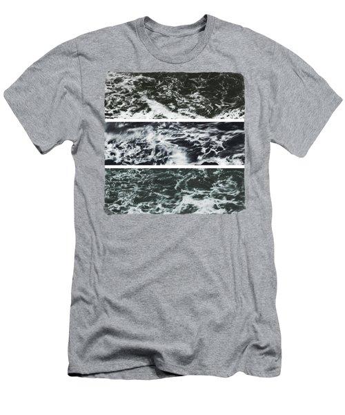 Saltwater Triptych Variation 3 Men's T-Shirt (Athletic Fit)