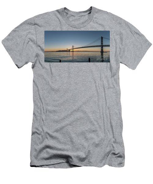 San Francisco Bay Brdige Just Before Sunrise Men's T-Shirt (Athletic Fit)