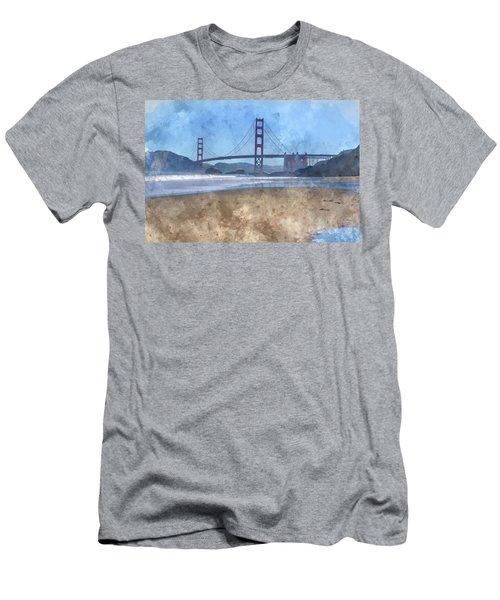 San Francisco Golden Gate Bridge In California Men's T-Shirt (Athletic Fit)