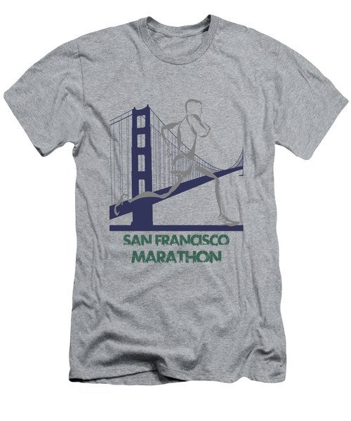 San Francisco Marathon2 Men's T-Shirt (Slim Fit) by Joe Hamilton