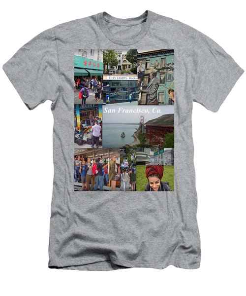 Men's T-Shirt (Athletic Fit) featuring the photograph San Francisco Poster by Joan Reese