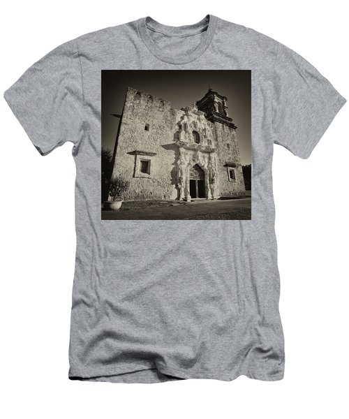 Men's T-Shirt (Slim Fit) featuring the photograph San Jose Mission - San Antonio by Stephen Stookey