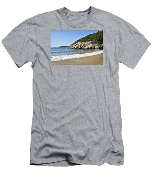 Sand Beach - Acadia National Park - Maine Men's T-Shirt (Athletic Fit)