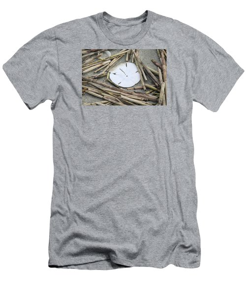 Men's T-Shirt (Slim Fit) featuring the photograph Sand Dollar Salad by Tammy Schneider