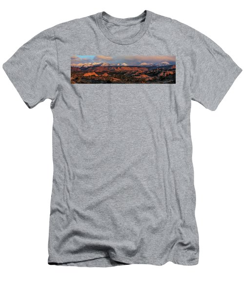 Sand Flats Sunset Men's T-Shirt (Athletic Fit)