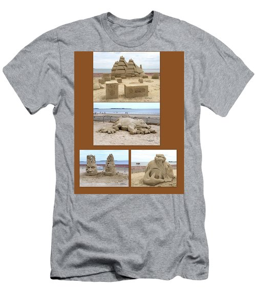 Sand Sculpture Collage Men's T-Shirt (Athletic Fit)