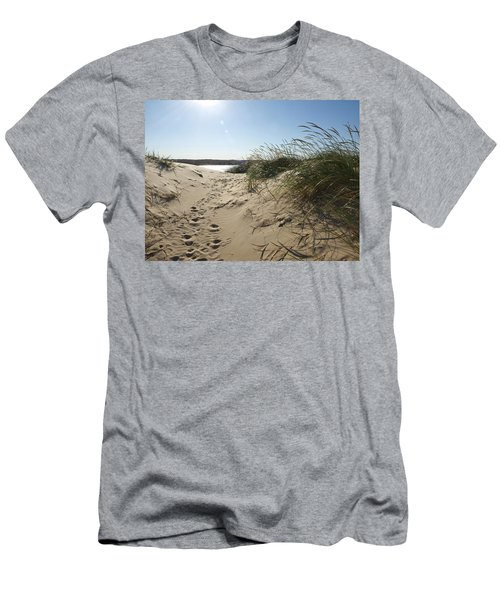 Sand Tracks Men's T-Shirt (Slim Fit) by Tara Lynn