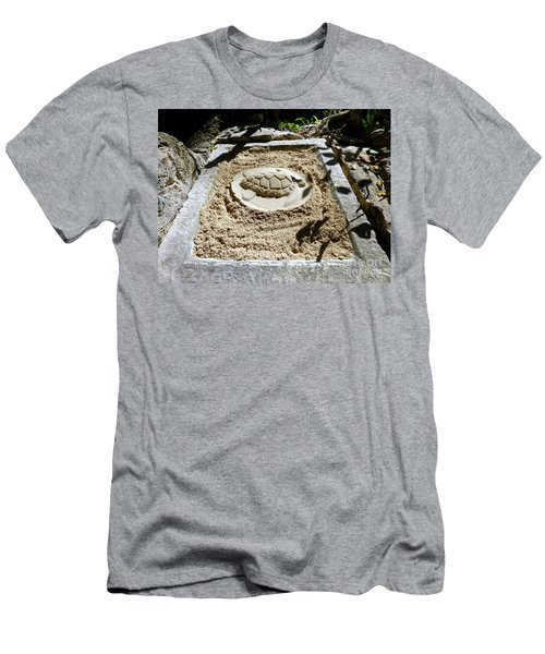 Men's T-Shirt (Athletic Fit) featuring the photograph Sand Turtle Print by Francesca Mackenney