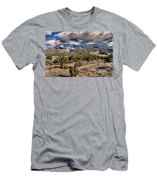 Men's T-Shirt (Slim Fit) featuring the photograph Sandia Mountain Landscape by Alan Toepfer