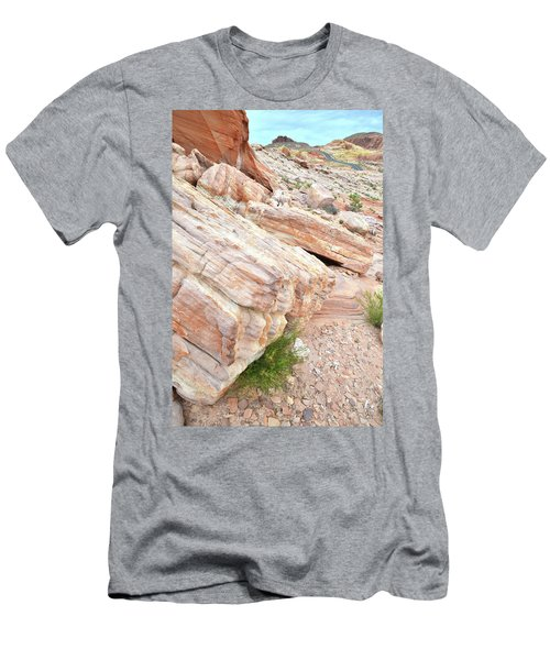 Men's T-Shirt (Slim Fit) featuring the photograph Sandstone Along Park Road In Valley Of Fire by Ray Mathis