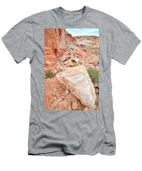 Men's T-Shirt (Slim Fit) featuring the photograph Sandstone Arrowhead In Valley Of Fire by Ray Mathis