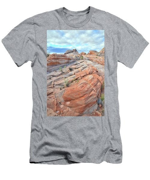Sandstone Crest In Valley Of Fire Men's T-Shirt (Slim Fit) by Ray Mathis