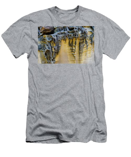 Men's T-Shirt (Athletic Fit) featuring the photograph Sandstone Detail Syd01 by Werner Padarin