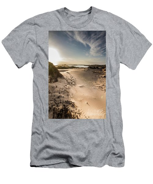 Sandy Beach Haven Men's T-Shirt (Athletic Fit)