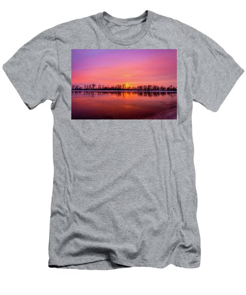 Sandy Chute Sunset Men's T-Shirt (Athletic Fit)