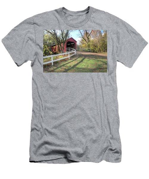 Sandy Creek Covered Bridge Men's T-Shirt (Athletic Fit)