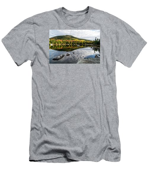 Reflection Sandy Stream Pond Me. Men's T-Shirt (Slim Fit) by Michael Hubley