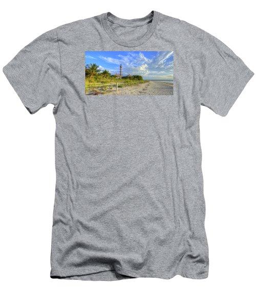 Sanibel Light House Men's T-Shirt (Slim Fit) by Sean Allen