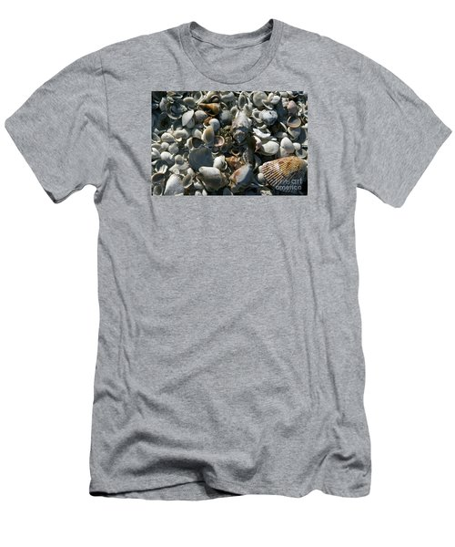 Men's T-Shirt (Slim Fit) featuring the photograph Sanibel Shells by Sandy Molinaro