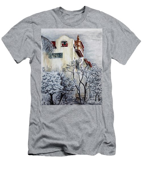 Santa Barbara Courthouse Bell Tower Men's T-Shirt (Slim Fit) by Danuta Bennett