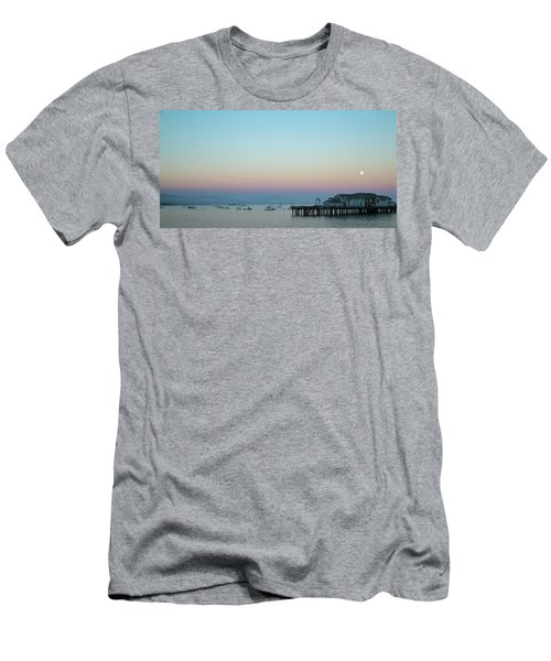 Santa Barbara Pier At Dusk Men's T-Shirt (Athletic Fit)