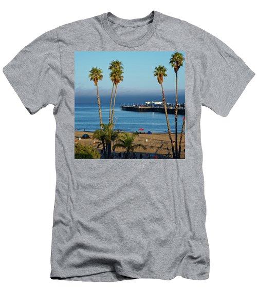 Santa Cruz Beach Men's T-Shirt (Athletic Fit)