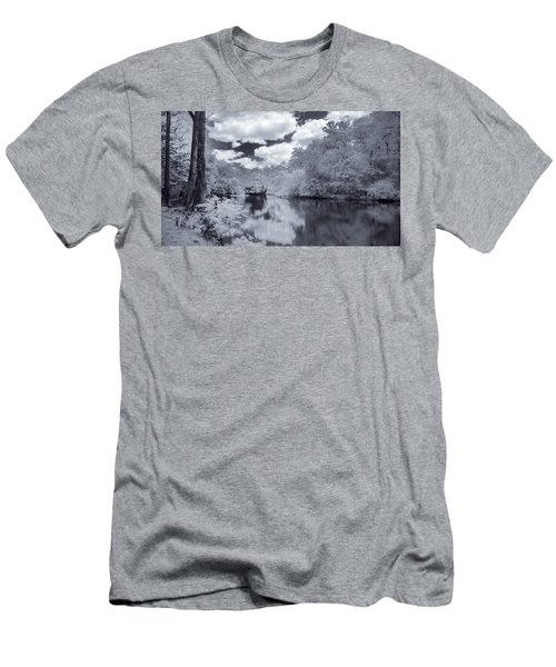 Men's T-Shirt (Slim Fit) featuring the photograph Santa Fe River Reflections by Louis Ferreira