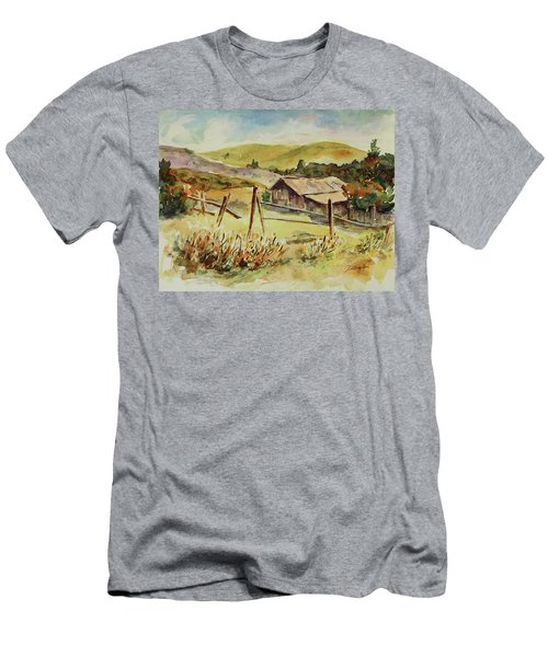 Men's T-Shirt (Athletic Fit) featuring the painting Santa Teresa County Park California Landscape 4 by Xueling Zou
