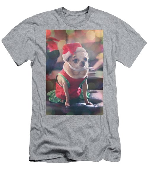 Men's T-Shirt (Slim Fit) featuring the photograph Santa's Little Helper by Laurie Search