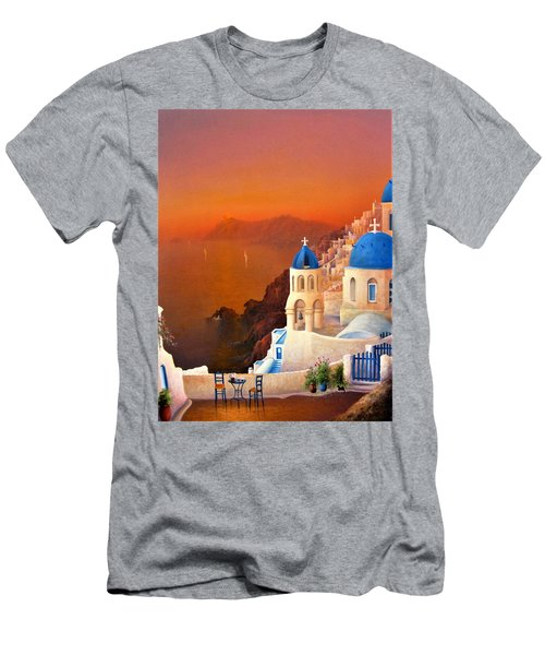 Santorini Sunset Men's T-Shirt (Athletic Fit)